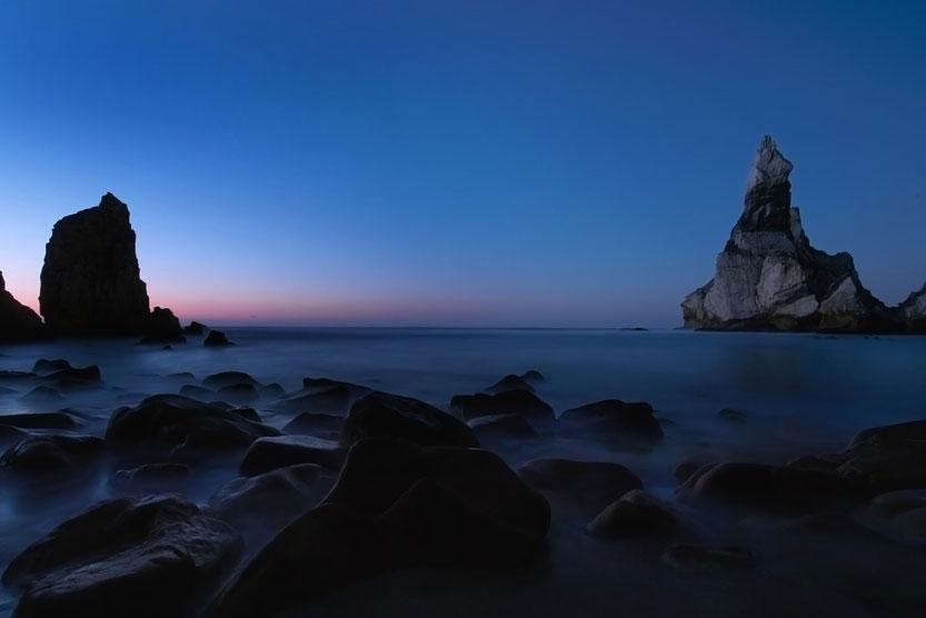 Maisemakuva meri sininen tunti